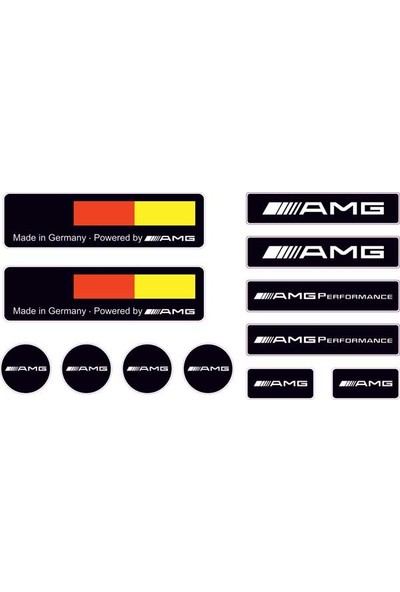 Gecko Amg Sticker Damla Logo Çıkartma Etiketi 3D