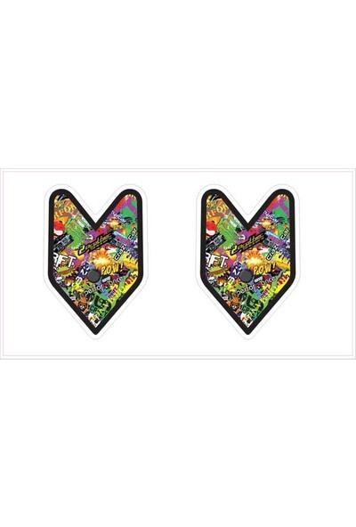 Gecko Ok Sticker Damla Logo Çıkartma Etiketi 3D