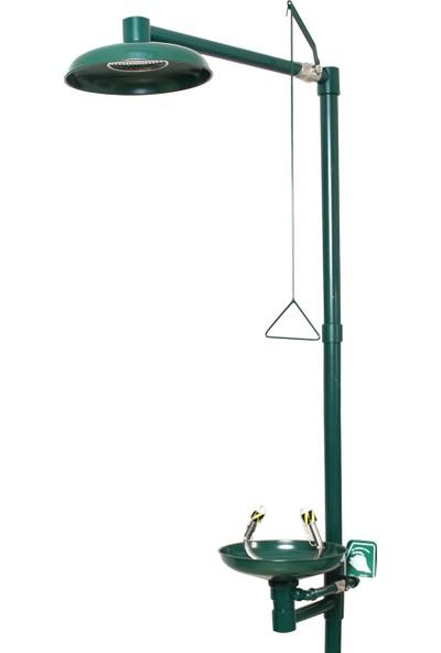 Naxoflex ODK1710-6A Göz ve Vücut Duşu Galvaniz Çelik Duvara Monte Fırın Boya