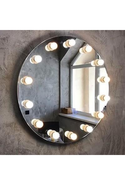 Masalina Masal Yuvarlak Işıklı Ayna 70 cm Çap