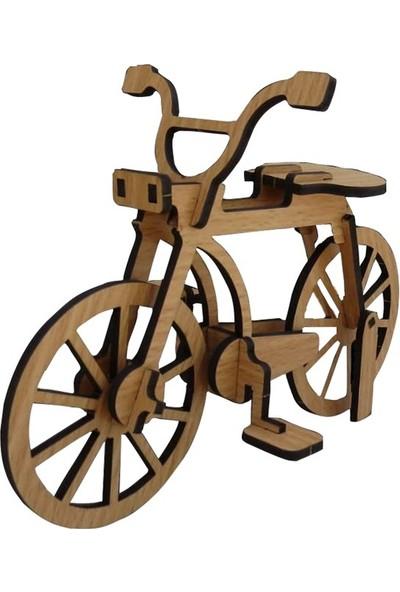 Pershang Ahşap Bisiklet 3 Boyutlu Yapboz