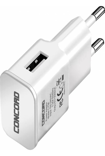 Concord C-742 2.0A Type-C USB Seyahat Şarjı