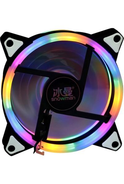 Snowman RGB Rai̇nbow Kasa Geni̇ş Fan 12 cm