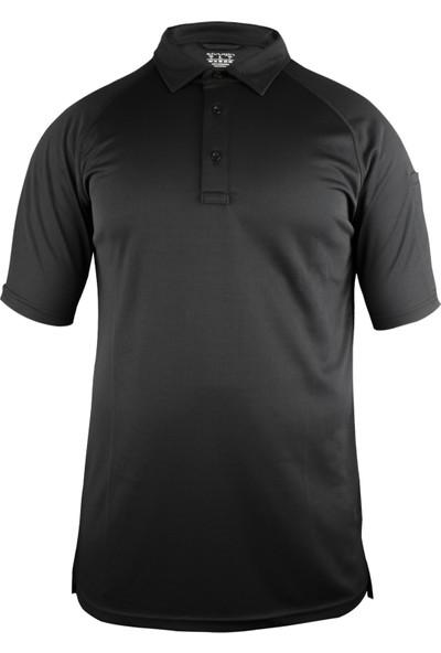Sivugin Outdoor Polyester Gömlek Yaka Erkek Siyah Polo T-Shirt