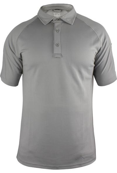 Sivugin Outdoor Polyester Performans Spor Polo Tişört Erkek -Gri