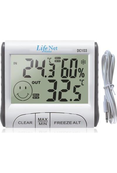 Life Net Medikal Dijital Termometre ve Nem Ölçer DC103