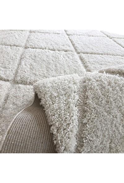 Payidar Halı Yummy Shaggy 2001A 80x150 cm Beyaz Shaggy Halı