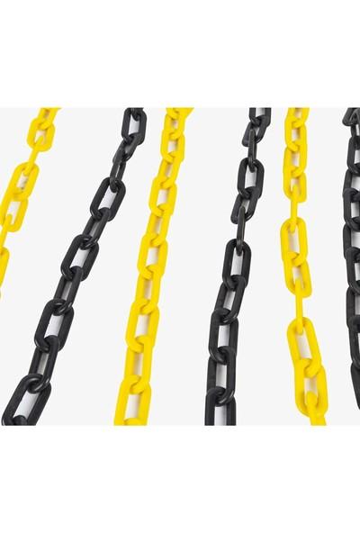hsemarket Plastik Trafik Zinciri (SARI SİYAH) EKONOMİK(1 METRE) 6MM