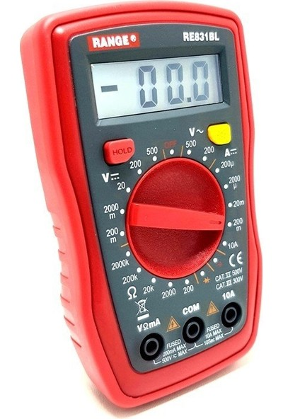 Range RE831BL Dijital Multimetre Ölçü Aleti