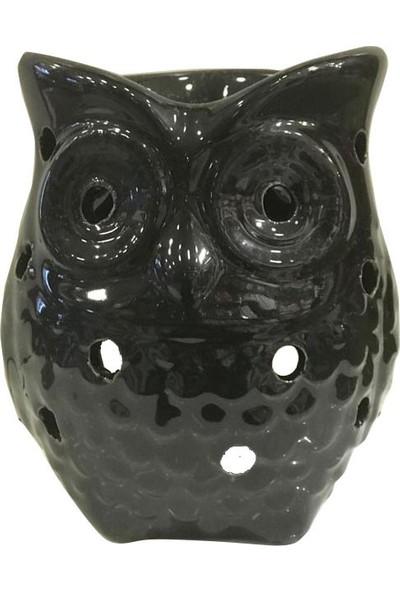 Esteryaplus Baykuş Buhurdanlık Siyah Oil Bunner Gift Set ve Çilek Sabunu