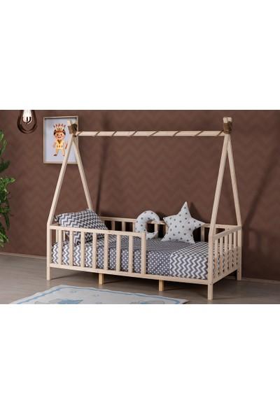 Yıldız Mobilya Montessori Ahşap Çadır - Genç - Çocuk Karyolası