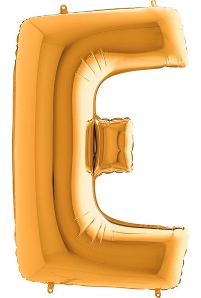 Kikajoy E Harf Grabo Altın Folyo Balon 102 cm