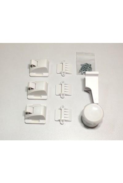 Kids Safe-T Plastik Manyetik Dolap Kilidi Beyaz