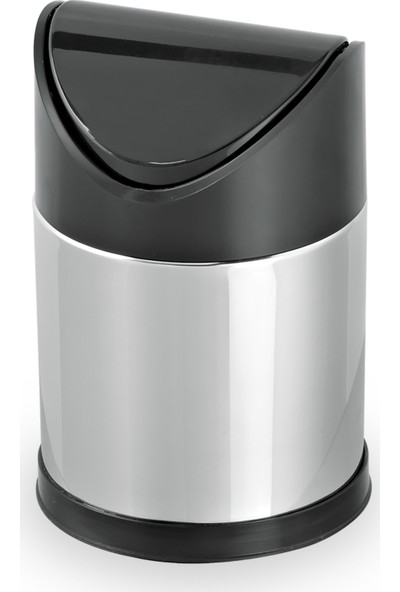 Foreca Sallanır Kapak Çöp Kovası 3 Litre Paslanmaz ve Plastik