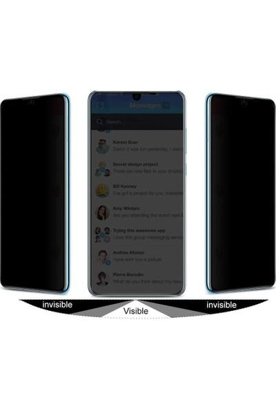 Teleplus Huawei P30 Pro Privacy Hayalet Cam Ekran Koruyucu Siyah