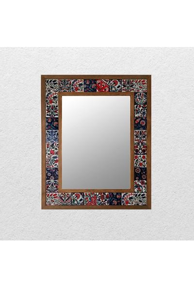 Atölye Hezarfen Seramik Karolu Ahşap Ayna