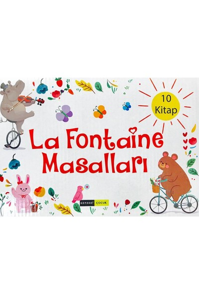 La Fontaine Masalları Hikaye Seti 10 Kitap 2 ve 3. Sınıf Gendaş