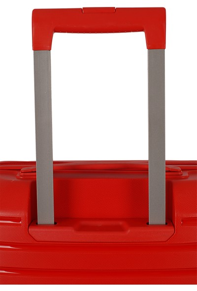 Ehs Ground Silikon Kırılmaz PP Orta Boy Valiz Kırmızı