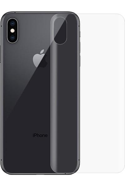 Monsterskin Apple iPhone XS Max Ön Arka Pet 5D Full Kaplayan İnce Ultra Darbeye Dayanaklı Ekran Koruyucu