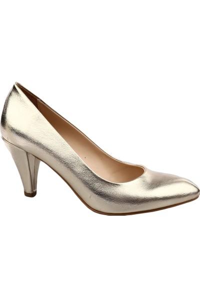 Dgn 102 Kadın Sivri Burun Parmak Dekolteli 11 Pont Stiletto Altın Kırık Sıvama