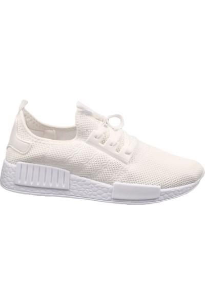 Dgn 2051 Erkek Tekstil Trend Spor Ayakkabı Beyaz