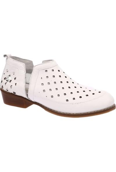 Mammamia D19Ya-3665 Kadın Günlük Ayakkabı Beyaz Faber