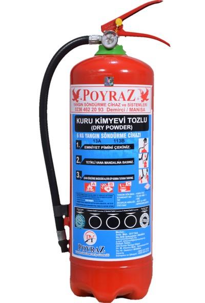 Poyraz Yangın 6 kg Yangın Söndürme Tüpü