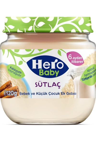 Hero Baby Sütlaç Kavanoz Mama 125 gr 12'li Set
