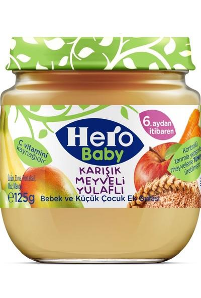 Hero Baby Yulaflı Karışık Meyve Püreli Kavanoz Mama 125 gr 12'li Set