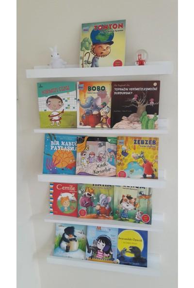 Özel Montessori Kitaplık Raf 5 Raflı