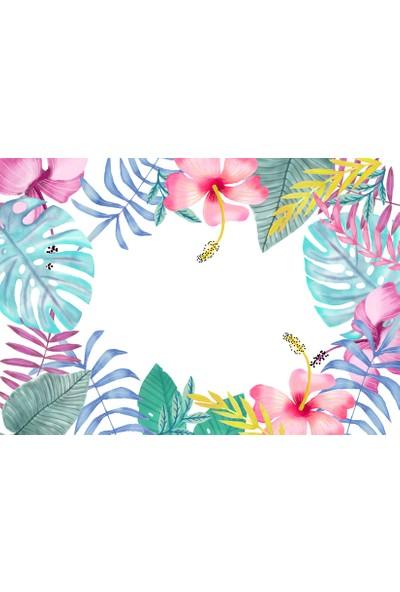 Yamamiya Renkli Tropik Amerikan Servis 4'lü set