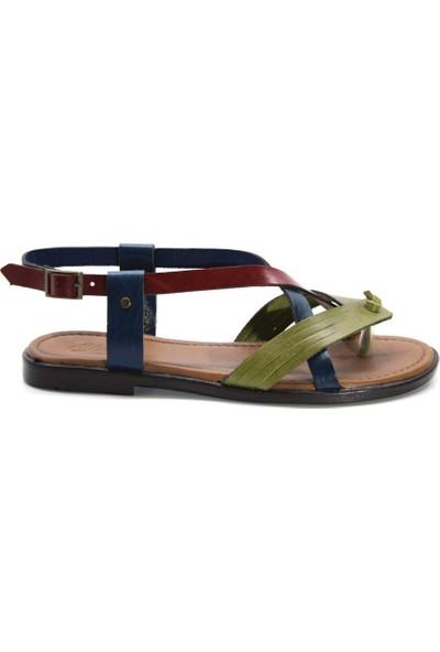 Cushy 104 Multi Parmak Arası Deri Kadın Sandalet