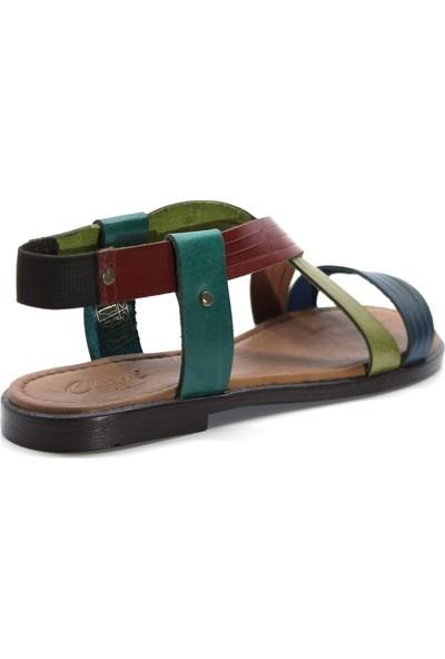 Cushy 122 Multi Düz Deri Kadın Sandalet