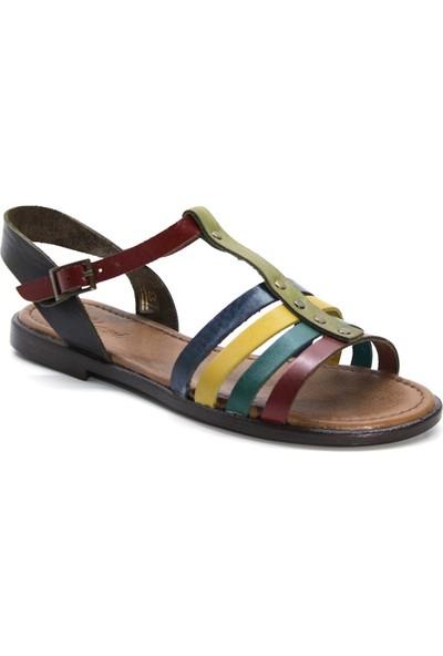 Cushy 107 Multi Düz Deri Kadın Sandalet