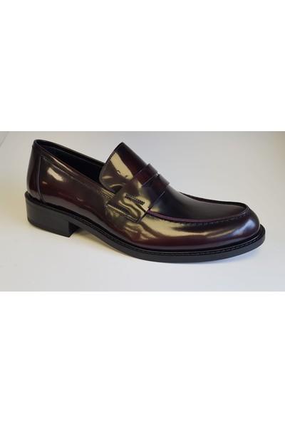 Serkan Garip Erkek Klasik Bordo Deri El Yapımı Ayakkabı 230 Bordo Açma