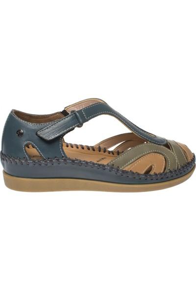 Forelli 22521 Kadın Bluejean Deri Sandalet