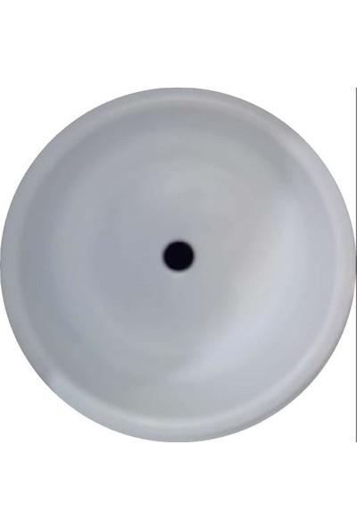 Sellin Kaplama Renklimetal Mutfak Evyesi Yuvarlak Tezgah Altı 38Cm X 38Cm Beyaz