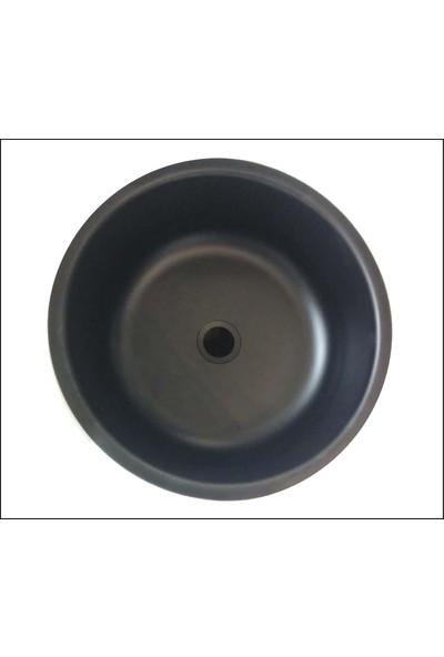 Sellin Kaplama Renklimetal Mutfak Evyesi Yuvarlak Tezgah Altı 38Cm X 38Cm Siyah