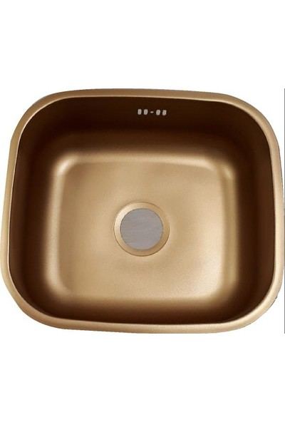 Sellin Kaplama Renklimetal Mutfak Evyesi Köşeli Tezgah Altı 38Cm X 48Cm Altın Sarısı