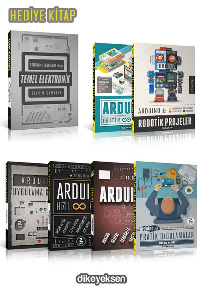 Arduino Başlangıç Seti (7 Kitap 6+1) - Akın Akçaoğlu