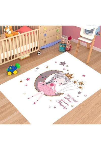 Karnaval Pırıltılı Prenses Çocuk Odası Halısı