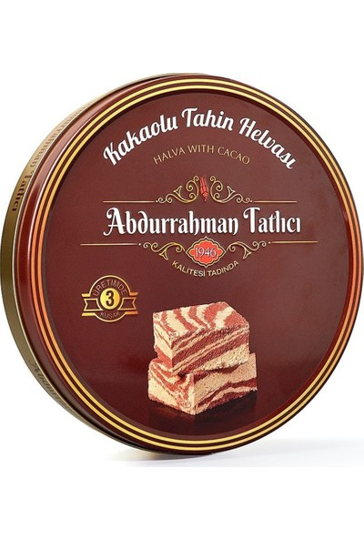 Abdurrahman Tatlıcı Kakaolu Tahin Helva-Teneke 650 gr