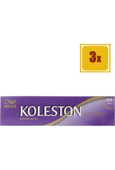 Koleston Tüp Boya Sarı 9/0 3'lü Set Saç Boyası