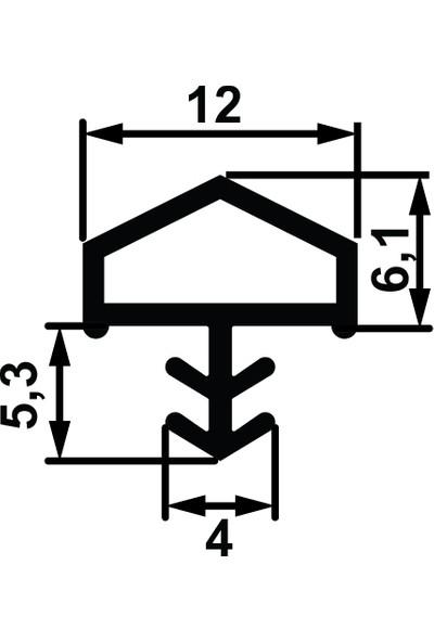 Hafele Kapı Fitili F03 Fitil Ortadan Basan Çatı Tipi Şeffaf 100 Metre 950.48.046