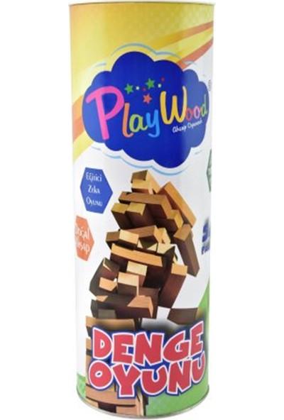 Playwood Silindir Kutuda Ahşap Denge Oyunu