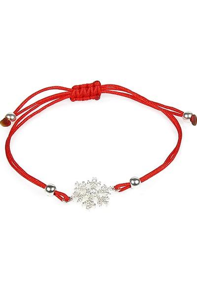Serpil Jewellery İpli Kar Tanesi Şans Bilekliği