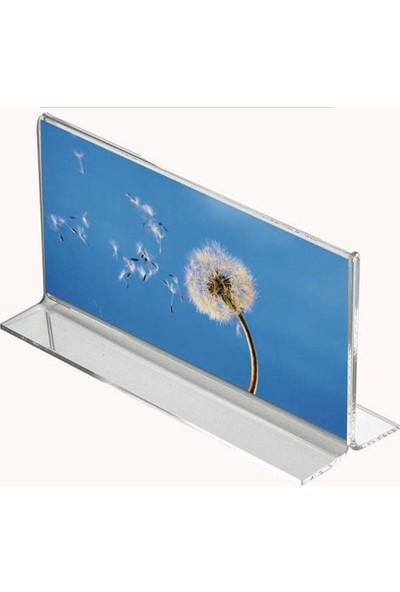 Masaüstü T Tipi Yatay Pleksi Föylük Broşürlük Fiyatlık A4 (21CMX30CM)