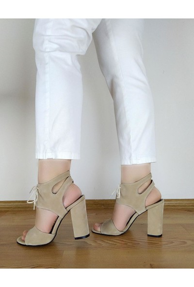 Modalisa 540 Bağcıklı Topuklu Kadın Ayakkabı Sandalet