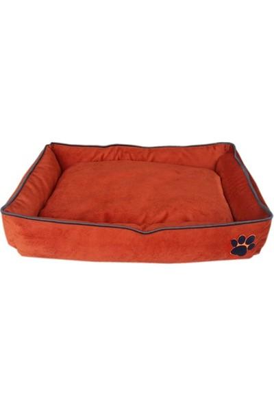 Nohov Tay Tüyü Köpek Yatağı L 15 x 65 x 100 cm Kiremit