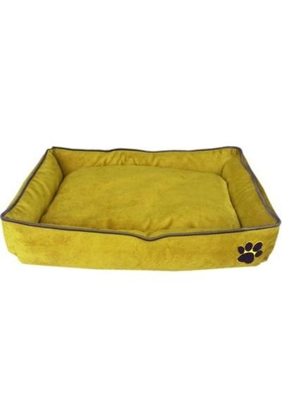 Nohov Tay Tüyü Köpek Yatağı M 15 x 60 x 80 cm Sarı